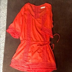 Sofía by Vix cover up - Coral Red small